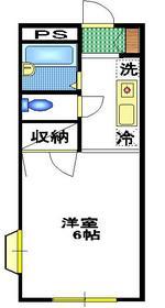 エステートST1階Fの間取り画像