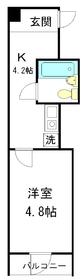 サンモールマスダビル4階Fの間取り画像
