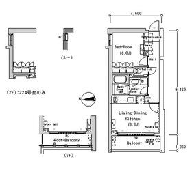 ルフォンプログレ南麻布2階Fの間取り画像