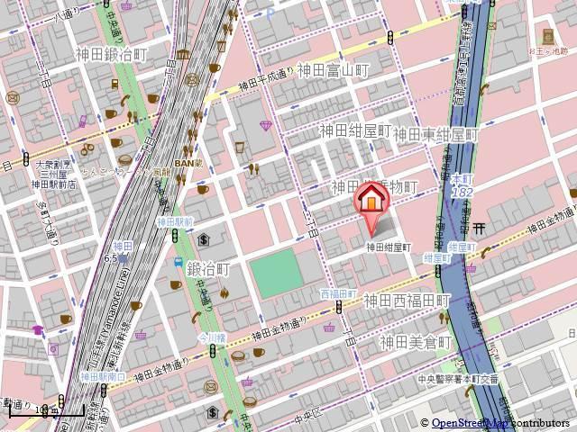 神田駅 徒歩4分案内図