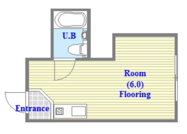 アバンティ八戸ノ里 学生さん・初めての1人暮らしにピッタリのコンパクトな間取です。