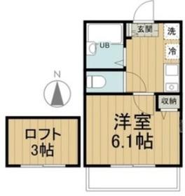 アペックス狛江2階Fの間取り画像