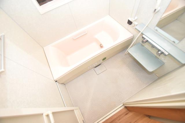 柏田東町2-37貸家 広めのお風呂は一日の疲れを癒してくれます。