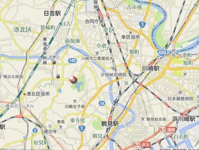 日神パレステージ大倉山案内図