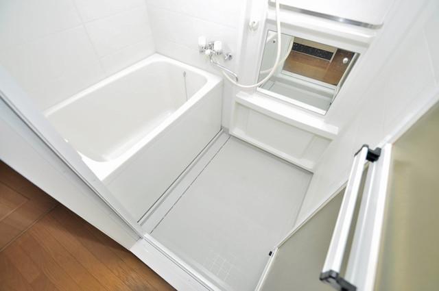 プリムヴェール ゆったりサイズのお風呂は落ちつける癒しの空間です。