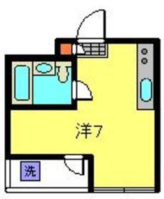 シャトル大恵E2階Fの間取り画像