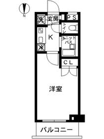 スカイコート東京ベイ東雲1階Fの間取り画像