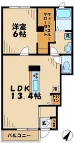 ディアコートベル21階Fの間取り画像