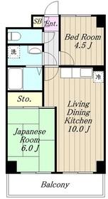 パストラル長田6階Fの間取り画像