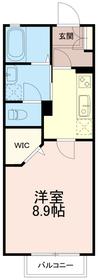 レジデンスコハク(レジデンスKOHAKU)1階Fの間取り画像