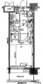国道駅 徒歩16分7階Fの間取り画像