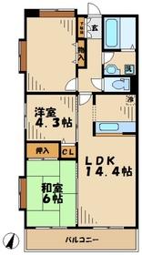 海老名駅 車14分4.9キロ5階Fの間取り画像