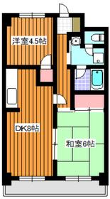 第三藤ホームビル4階Fの間取り画像