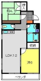 ジョイフルハイム2階Fの間取り画像