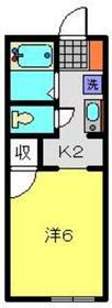 クレオ弘明寺1階Fの間取り画像