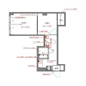 西荻セントラルマンション1階Fの間取り画像