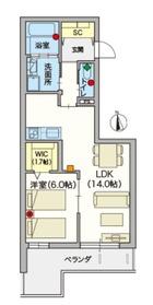 (シニア限定)ツバサマンション2階Fの間取り画像