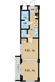 大崎駅 バス11分「不動前駅入口バス停」徒歩7分2階Fの間取り画像