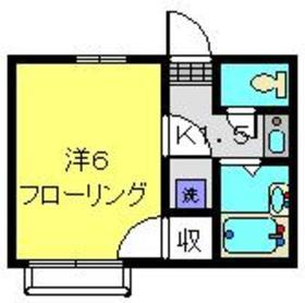 ハイツクイーン2階Fの間取り画像