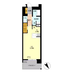 ロイヤルパークスリバーサイド4階Fの間取り画像