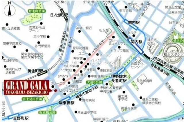 グランド・ガーラ横浜伊勢佐木町案内図