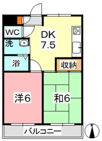 ドムール・G・サンスーシ2階Fの間取り画像