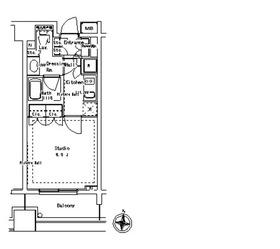 パークアクシス御茶ノ水ステージ11階Fの間取り画像