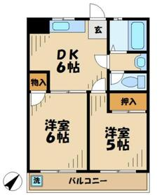 クレインマンション2階Fの間取り画像