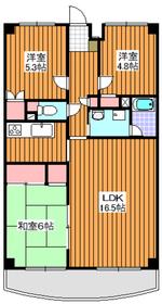 下赤塚駅 徒歩23分4階Fの間取り画像