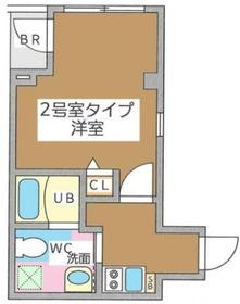 月島駅 徒歩10分5階Fの間取り画像