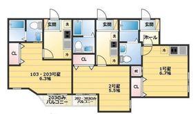FORTUNA YOKOHAMA1階Fの間取り画像