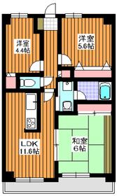 メルベーユ丸山台4階Fの間取り画像