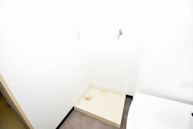 コートドールタツミ 嬉しい室内洗濯機置場。これで洗濯機も長持ちしますね。