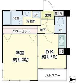 メゾンI&S3階Fの間取り画像