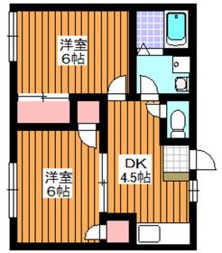 アシュレ成増1階Fの間取り画像