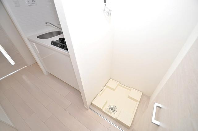 サムティ大阪GRAND EAST 洗濯機置場が室内にあると本当に助かりますよね。