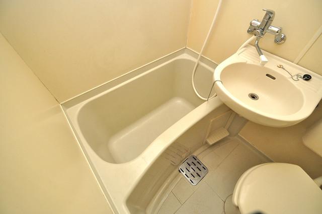 レオパレス布施  コンパクトだけど機能性バッチリ。シンプルライフに十分のお風呂。