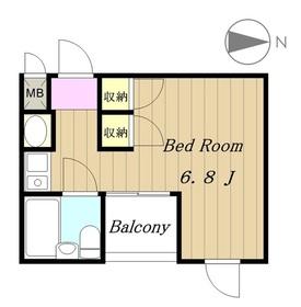 AVENUE2 アヴェニュー3階Fの間取り画像