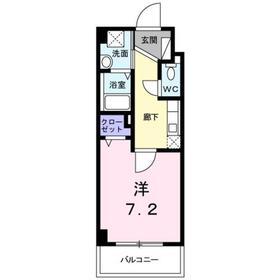 プリマベール5階Fの間取り画像
