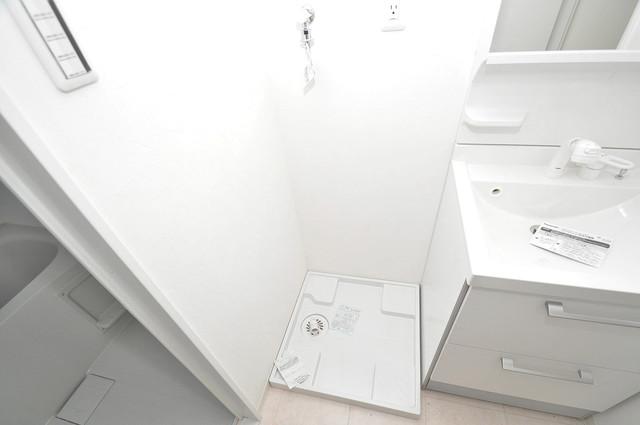 Cherry  嬉しい室内洗濯機置場。これで洗濯機も長持ちしますね。