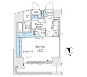 ミライズレジデンシャル九段10階Fの間取り画像