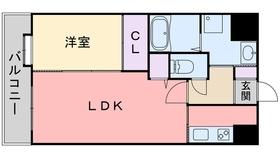 ネストピア別府駅前11階Fの間取り画像