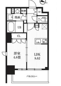 レクシード神田11階Fの間取り画像