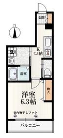 小竹向原駅 徒歩5分2階Fの間取り画像