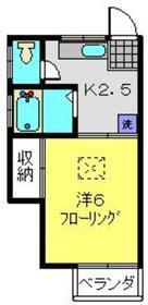 メゾン池田C1階Fの間取り画像