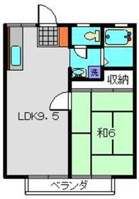 保土ヶ谷駅 徒歩23分2階Fの間取り画像
