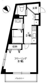 A・la・Mode東向島3階Fの間取り画像