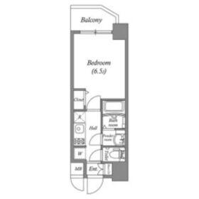 ララプレイス天王寺ルフレ7階Fの間取り画像