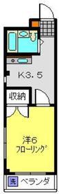 妙蓮寺ミューズ3階Fの間取り画像