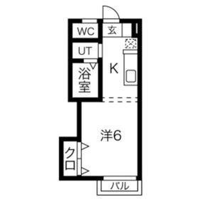 清和ハイム2階Fの間取り画像
